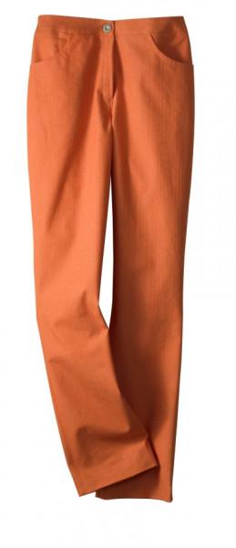 orangene Hose mit Sattelbündchen