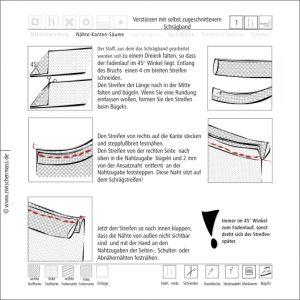 Verstürzen mit selbst zugeschnittenem Schrägband