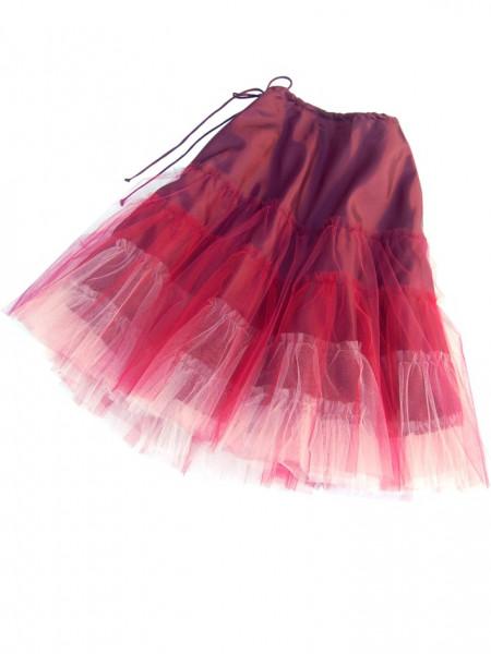 rot-rosa gestufter Petticoat