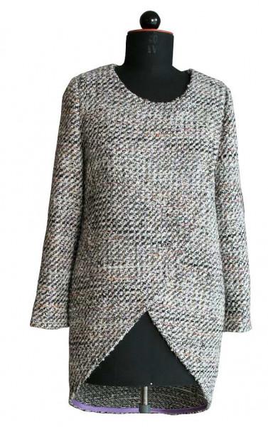 Pullover mit zweilagigem Vorderteil
