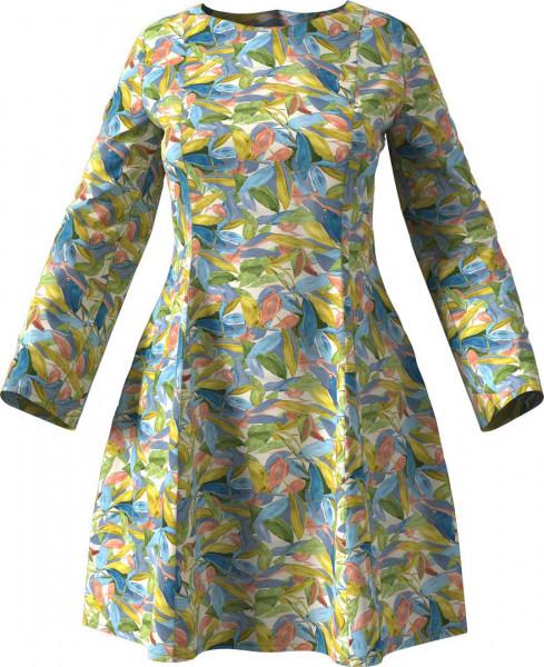 Kleid aus Viskose in Pastelltönen.