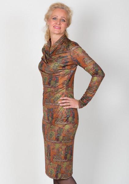 Jerseykleid mit Raffung in der Seitennaht