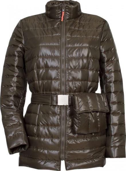 Jacke aus braunem Steppstoff